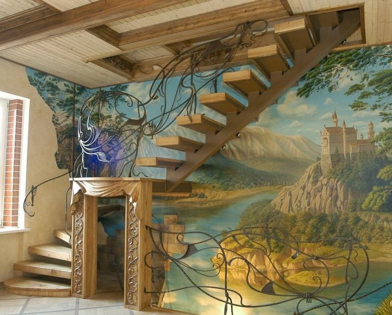 Художній розпис стін — творчі ідеї в інтер'єрі