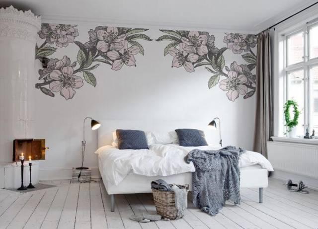 Ідеї для розпису стін у спальній