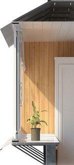 Балкон з виносним підвіконням з оздобленням: розріз