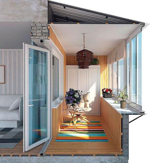 Скління балкона з виносом