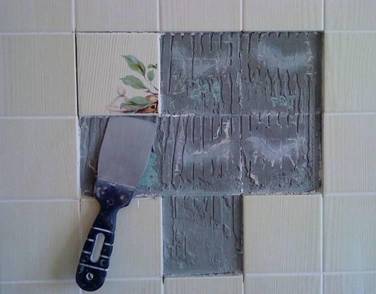 Как проводить замену плитки в ванной комнате
