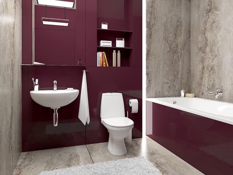 Інтер'єр ванної кімнати - мінімалізм