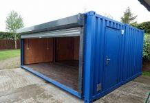 Блок-контейнер в качестве гаража