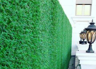 декоративный зеленый забор с ПВХ-покрытием