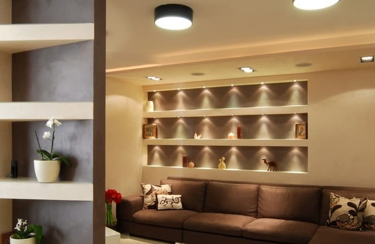 Вбудовані ніші-полиці з гіпсокартону