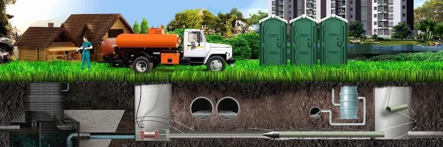 Откачка канализации спецтехникой