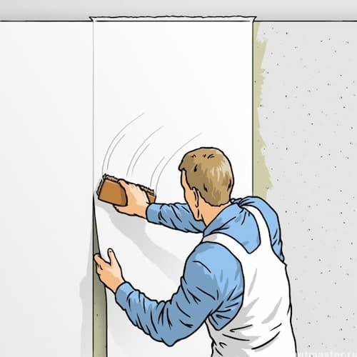 Как поклеить обои на стены правильно